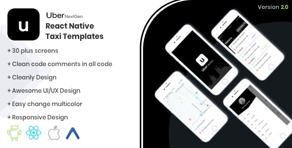 Uber NextGen React Native UI Kit Template