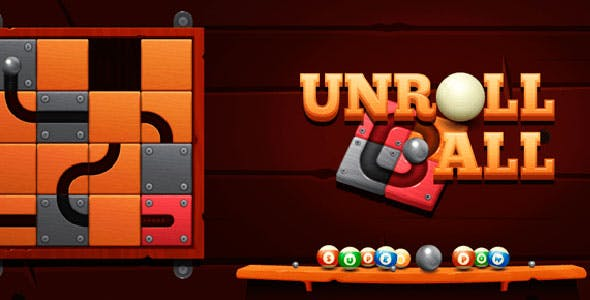 Unroll Ball with Admob + IAP (Android + iOS)