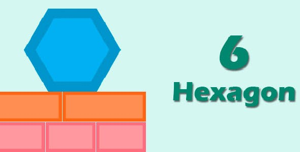 Six Hexagon with Admob + IAP (Android + iOS)