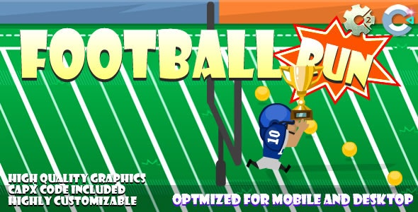 FootBall Run (C2,C3,HTML5) Game. - CodeCanyon Item for Sale