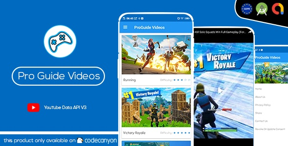 Pro Games Guide ,Tips ,Tricks Videos ( Android Studio - GDPR - Admob ) - CodeCanyon Item for Sale