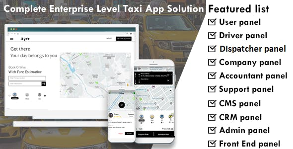 Enterprise Level Complete Taxi App Solutions
