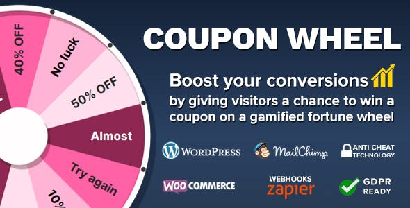 Coupon Wheel For WooCommerce and WordPress