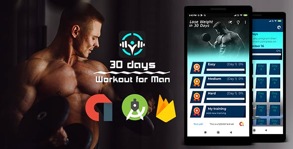 Male Fitness | Admob | Firebase | Android Studio