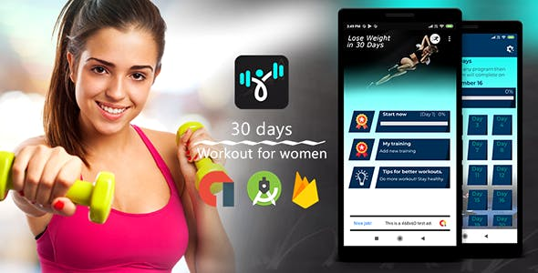 Female Firness | Admob | Firebase | Android Studio