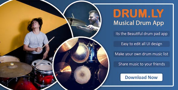 DRUM.LY : Musical drum pad app