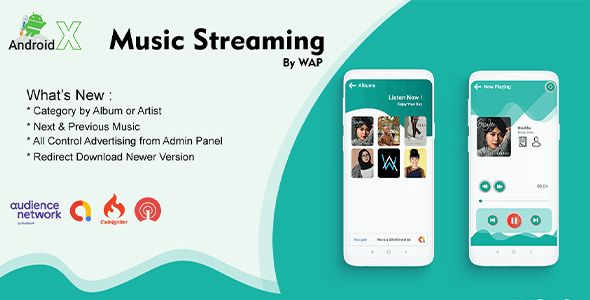 Music Streaming By WAP - Modern UI Streaming Music Online with Lyric