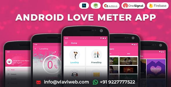 Android Love Meter App (SMS, Wallpaper, Calculator)
