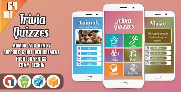 Trivia Quizzes - Android Studio + AdMob