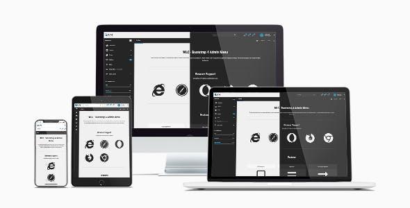 WLC - Responsive Bootstrap 4 Admin Menu