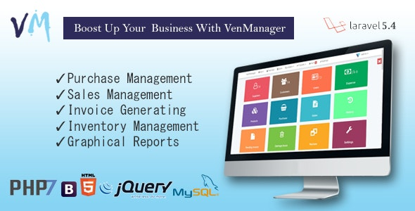 VenManager - Inventory, Account & Sales Management - CodeCanyon Item for Sale