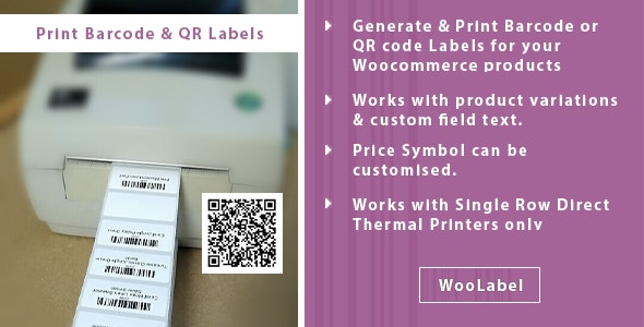 QR & Barcode Generator Label Printing - Woolabel - CodeCanyon Item for Sale