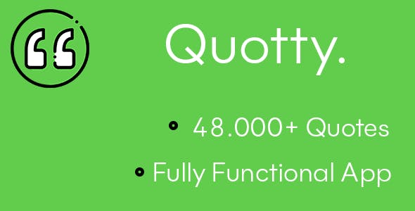 Quotty - Flutter Full Quote App