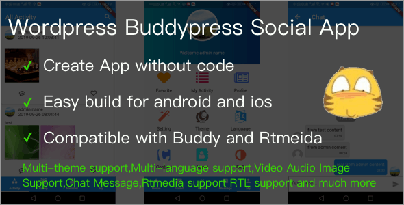 Wordpress Buddypress Social App