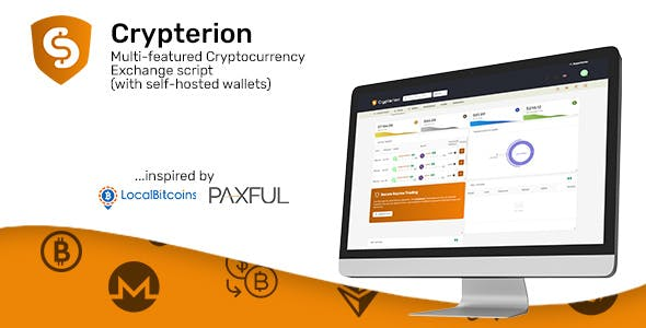 Crypterion - Multi-featured Cryptocurrency Exchange platform (with self-hosted wallets)