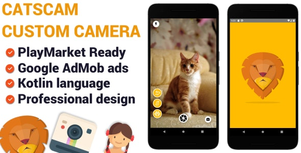 CatsCam - Android Custom Camera Source Code - CodeCanyon Item for Sale