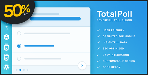 TotalPoll responsive poll plugin