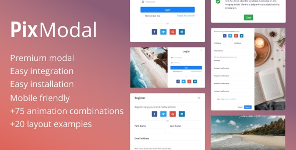 PixModal - Responsive Modal Popup - CodeCanyon Item for Sale