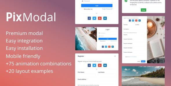 PixModal - Responsive Modal Popup