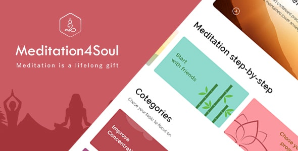 Meditation4Soul - Flutter UI - CodeCanyon Item for Sale