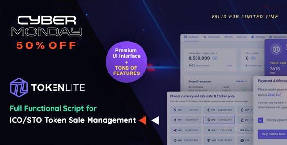 TokenLite - ICO / STO Token Sale Management Dashboard - ICO Admin Script