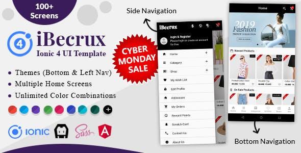 iBecrux - Ionic 4 Ecommerce UI Template