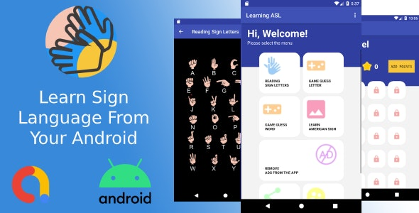 Application Sign Language + Android - CodeCanyon Item for Sale