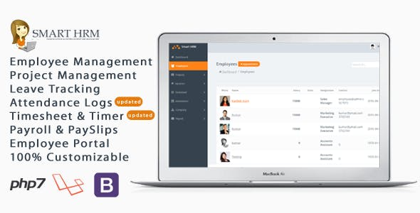Smart HRM - HR Management with Project Management, Payroll, Attendance & Time sheet Lite