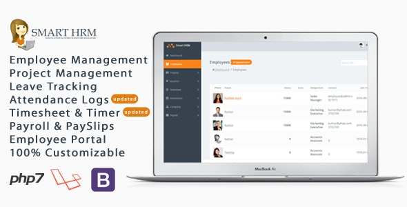 Smart HRM - HR Management with Project Management, Payroll, Attendance & Time sheet Lite - CodeCanyon Item for Sale