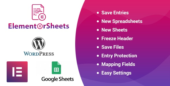 ElementorSheets - Elementor Pro Form Google Spreadsheet Addon - CodeCanyon Item for Sale