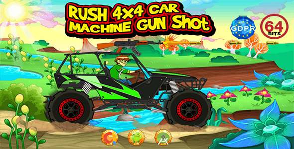 Rush 4X4 Car Machine Gun with GDPR+64 Bits(Android Studio)- the addition of admob is on demand