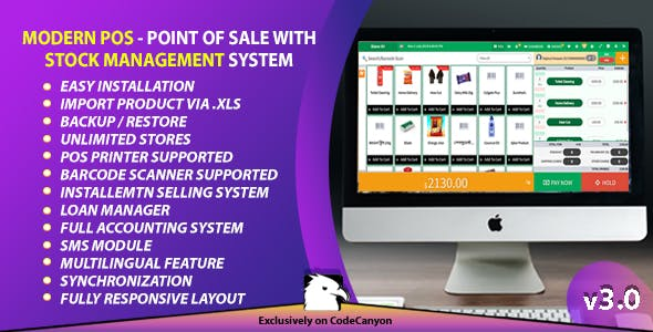 Modern POS - Point of Sale with Stock Management System