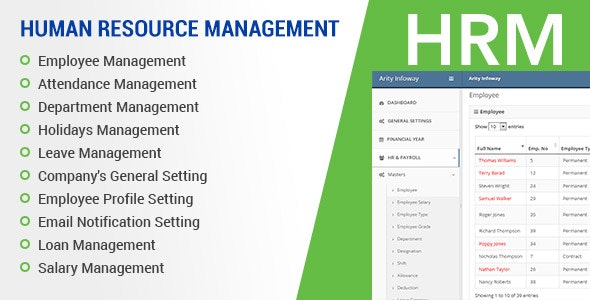 HRM (Human Resource Management) System, ZkTeco BioMetric Time attendance, Salary, Manage employee - CodeCanyon Item for Sale