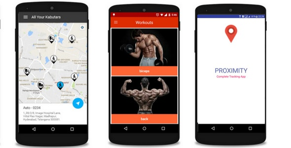 Tracking Vehicle and Fitness App Bundle - CodeCanyon Item for Sale