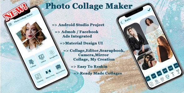 Photo Collage Maker Source Code Android App - CodeCanyon Item for Sale