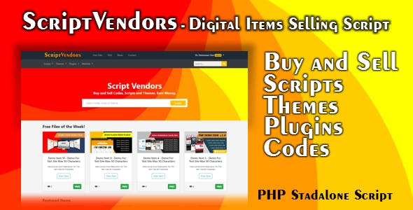 ScriptVendors - Multivendor Digital Items Marketplace Script PHP