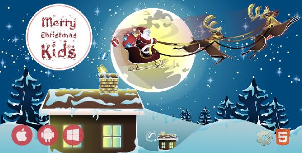 Merry Christmas Kids • HTML5 + C2 Game