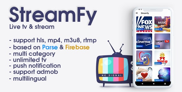 StreamFy - Live streaming tv (android) - CodeCanyon Item for Sale