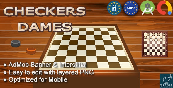 Checkers - Dames (Android Studio - Admob - GDPR) - CodeCanyon Item for Sale