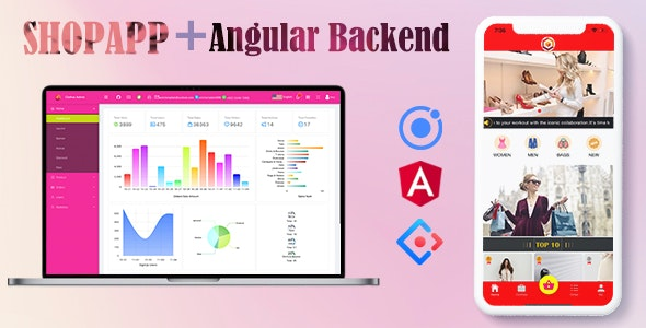 Ionic 4 Online Clothes Shop App with Angular Admin Backend - CodeCanyon Item for Sale