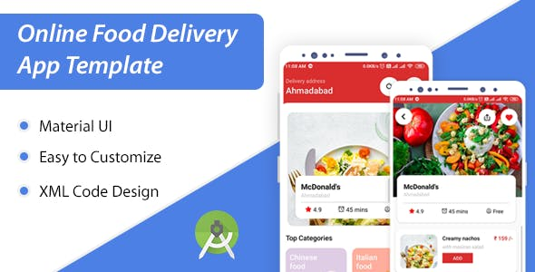 Food Delivery App XML Kit