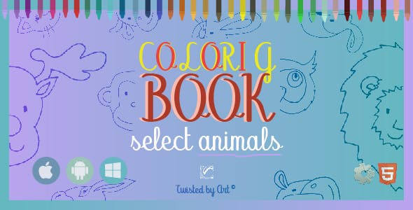 Coloring Book Select Animals • HTML5 + C2 Game