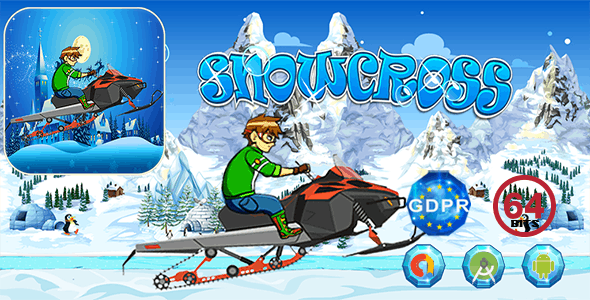 Snowcross Hill Racing with GDPR+ 64 Bits (Android Studio)- the addition of admob is on demand (free)