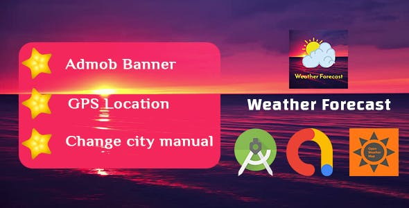 Simple Live Weather Forecast App with Admob Ads