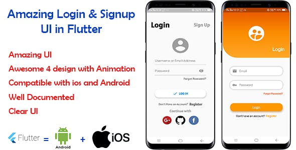 Amazing Login & Signup UI in Flutter