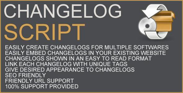 Changelog Script - CodeCanyon Item for Sale