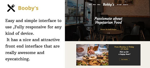 Bobby's - Responsive Online Restaurant landing page - CodeCanyon Item for Sale