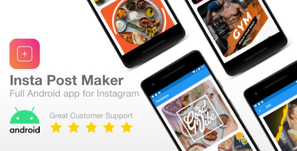 Insta Post Maker - Full Android app to make Instagram Posts - CodeCanyon Item for Sale