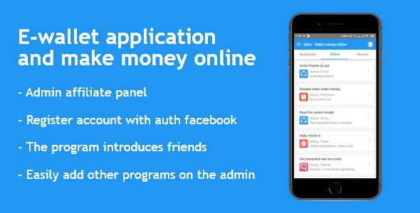 The e-wallet application reward React Navite and Nodejs Admin