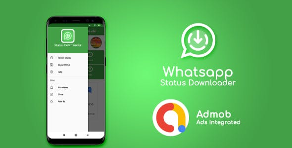 Whatsapp Status Saver & Downloader With AdMob Ads Android Apps